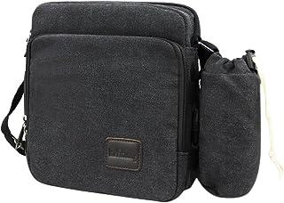 fb5536fbe2b2 Men s Retro Canvas Messenger Bag Adjustable Shoulder Sling Bag Leisure  Crossbody Bag Versatile Satchel Bag Rucksack