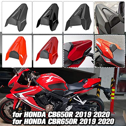 AHOLAA CB650R CBR650R Hintere Solo-Rücksitzbank Soziusabdeckung für 2019 2020 Honda CB 650 R CB 650R Beifahrersitz Heckverkleidung Motorrad-Zubehör (Weinrot)