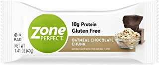ZonePerfect Protein Bars, Oatmeal Chocolate Chunk, High Protein, With Vitamins & Minerals, 1.41 Ounce (30 Count)