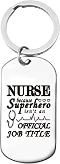 Funny Nurse Stainless Steel Key Chain Gifts, Graduation Birthday International Nurses Day Gifts, Best Gifts for Daughter Son Friend
