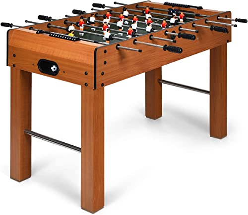 """wholesale Giantex high quality 48"""" Foosball Table, 8 Rods, 2 Balls and lowest Score Keepers, Wooden Competition Soccer Game Table for Home, Game Room, Easy Assembly, Multiplayer Table Soccer Game for Kids and Adults online sale"""