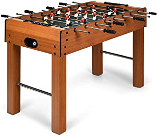 """Giantex 48"""" Foosball Table, 8 Rods, 2 Balls and Score Keepers, Wooden Competition Soccer Game Table for Home, Game Room, Easy Assembly, Multiplayer Table Soccer Game for Kids and Adults"""