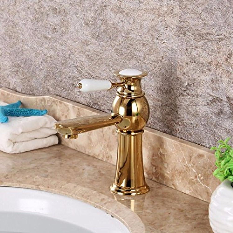 Gyps Faucet Waschtisch-Einhebelmischer Waschtischarmatur BadarmaturDie Verkupferten Waschbecken Waschbecken hei und Kalt - Wasseranschlu,Mischbatterie Waschbecken