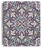 Vera Bradley Large Spiral Notebook, College Ruled Paper, 11' x 9.5' with Pocket and 160 Lined Pages, Bonbon Medallion