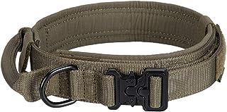 EXCELLENT ELITE SPANKER Tactische halsband Nylon verstelbare K9 halsband Militaire halsband Zware metalen gesp met handvat...