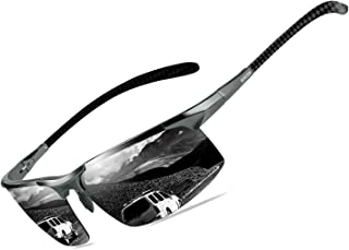 Bircen Mens Polarized Carbon Fiber Sunglasses UV...