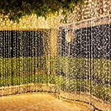 600 LED Tenda Luminosa 2 in 1 Colore IDESION 6M x 3M Tenda di Luci 9 Modalità con Telecomando Impermeabile LED Luci Natali per Interno or Esterno Catene Luminose Decorative (Bianco Caldo & Freddo)