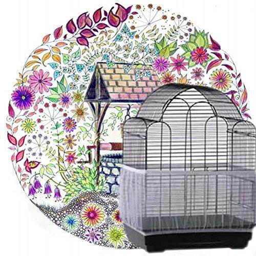 Protezione per Semi per Uccelli, Gabbia per Uccelli, Gabbia per Uccelli, Copertura in Rete per...