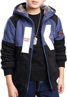 ZUOMAボーイズ 綿入れ上着 厚手スポーツウエア 保温コート 裏起毛 冬ジャケット カジュアル