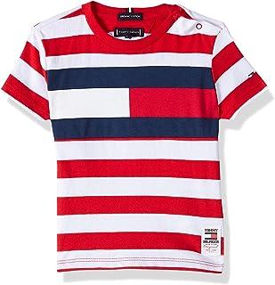 Tommy Hilfiger Boy's Cut & Sew Stripe Short Sleeve T-Shirt