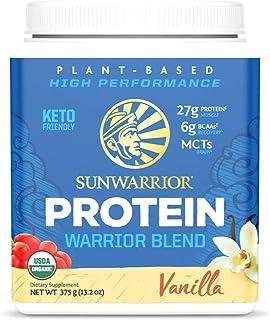 Sunwarrior Warrior Blend, Organic Vegan Protein Powder with BCAAs and Pea Protein (Vanilla, 15 Servings)