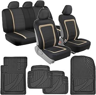 BDK Advanced Performance Car Seat Covers & Heavy Duty Rubber Floor Mats Combo (w/Adv Performance Mats)
