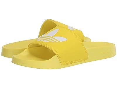 adidas Adilette Lite (Shock Yellow/Footwear White/Shock Yellow) Women