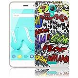 thematys Passend für Wiko Jerry 2 Comic Haha Silikon Schutz-Hülle weiche Tasche Cover Case Bumper Etui Flip Smartphone Handy Backcover Schutzhülle Handyhülle