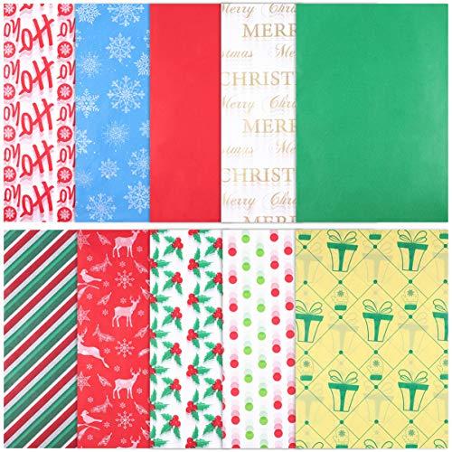 Hoja De Envoltura De Regalo, 150 Hojas Papel para Envolver Regalos Diseño para Navidad, Cumpleaños, Fiesta