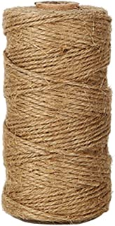 Shintop 328 FeetNatural Jute Twine Best Industrial Packing Materials Heavy Duty Natural Jute Twine for Arts and Crafts a...