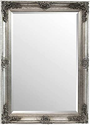 "Large Silver Ornate Antique Design Wall Mirror 30 X 26/"" 76cm X 66cm"