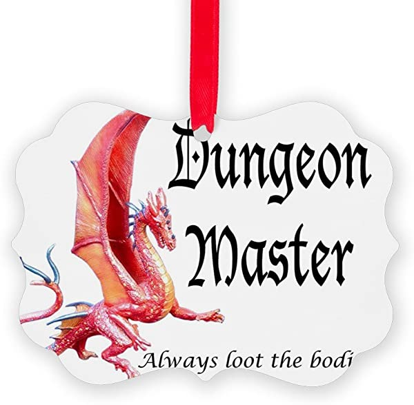 CafePress Dungeon Master Loot Christmas Ornament Decorative Tree Ornament