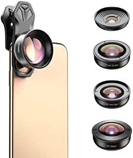 Apexel HD Mobile Phone Camera Phone Lens Set - 10x Macro Lens, 2X Telephoto Lens, 110°Wide Angle, 170°Super Wide Angle, 19...