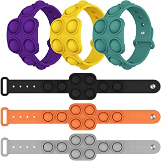 ELECDON Stress Relief Wristband Fidget Bracelet,Finger Press Silicone Bracelet Toy,for Kids and Adults Anxiety ADHD ADD Au...