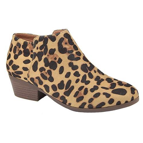 b279f1bc722a97 Bella Marie Bradee-07 Women s Side Zip Stacked Block Heel Ankle Booties
