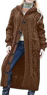 YfiDSJFGJ Long Jackets for Women Dressy Long Sleeve Open Front Casual Stitching Pocket Long Coat,Womens Pea Coat