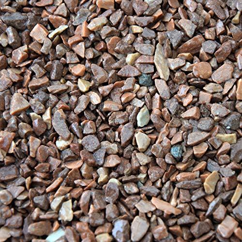 BTT-ST Steinteppich aus Marmorkies Marrone Mogano und Epoxidharz Bindemittel für 7,2m² Marmorstein Marmorkiesel Steinboden Bodenbeschichtung