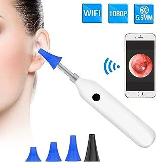 BlueFire 耳かき カメラ 内視鏡 耳 WiFi電子耳鏡 みみかき 耳掃除 スコープ 顕微鏡 200万画素 録画可能 1080P HD高画質 IP68防水 5.5MM極細レンズ 高輝度6個LEDライト 家庭用 耳 鼻 肌 口腔ケア Android iPhone 携帯 iPad タブレット対応