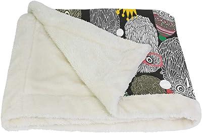 VAWA ブランケット フクロウ ひざ掛け かわいい 毛布 着る 厚手 大きい 大判 紐付き 寒さ対策 オフィス アウトドア用 動物柄 和柄 和風