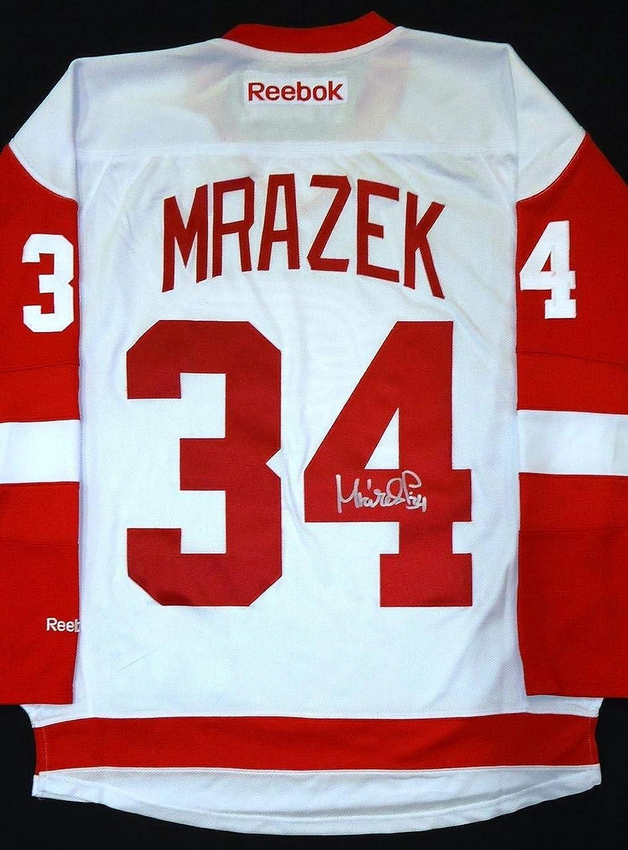 Petr Mrazek Autographed Jersey  Road  Autographed NHL Jerseys