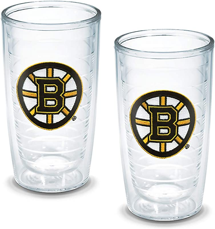 Tervis 1044736 NHL Boston Bruins Tumbler Emblem 16 Oz Clear