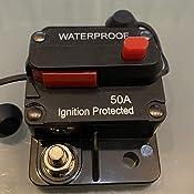 Mottdam Schutzschalter 50 300a Leitungsschutzschalter 50 Amp Reset Sicherung 12 48v Dc Sicherung Auto Boot Leistungsschalter 200a Baumarkt