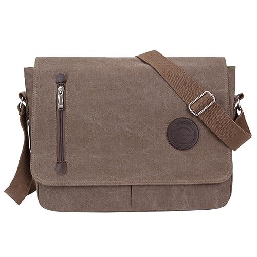 97a055d3529c SUPA MODERN® Unisex Vintage Canvas Shoulder Bag Shoulder Bag Messenger Bag  For Work Uni Travel