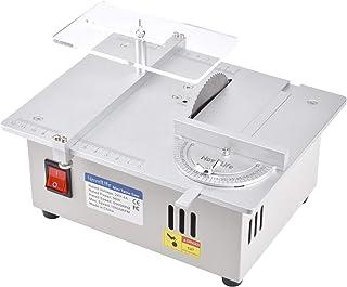 NovelLifeミニテーブルソー卓上小型DIY木工用モデル切断機切削工具電源付き80mm HSS丸鋸刃