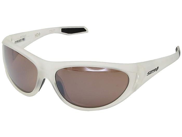 Spy Optic Scoop 2 (Matte Crystal/HD Plus Bronze/Black Spectra Mirror) Athletic Performance Sport Sunglasses