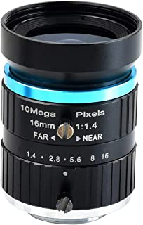 Waveshare Quality Industrial Telephoto Lens with 16mm Focal Length, Multi Field Angle and C-Mount Compatible with Raspberr...