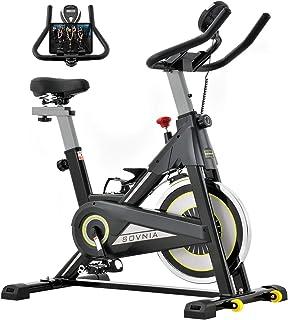 フィットネスバイク エアロバイク SOVNIA 静音 家庭用スピンバイク 室内エクササイズバイク 快適なクッションサドル&タブレットホルダー付き