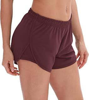 Workout Shorts Built-in Brief - Women's Gym Exercise Athletic Running Yoga Shorts