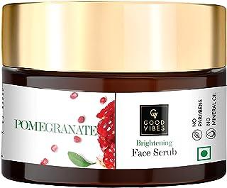 Good Vibes Pomegranate Brightening Scrub - 50 g - Removes Dullness and Skin Impurities For Skin Brightening and Exfoliatin...