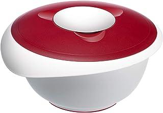 Westmark Bol de Mélange avec Couvercle Deux Parties, 3,5 L, Avec Verseur, Plastique, Blanc/Rouge, 3155227R