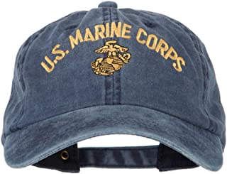 US Marine Corps Logo Embroidered Washed Cotton Twill Cap