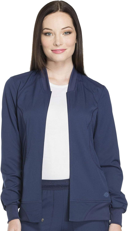 Dickies Dynamix Women Warm Up Scrubs Jacket Zip Front DK330: Clothing, Shoes & Jewelry