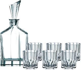 Spiegelau & Nachtmann 90025, 7-teiliges Whisky-Set, 1 Dekanter 6x Whisky-Becher, Aspen