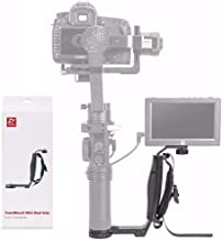 Zhiyun Mini Dual Grip, Transmount Single Handle Grip L Bracket Rig 1/4 Screw Connector for Zhiyun Crane 2 Crane Plus Crane M V2 Series DJI Ronin-S Handheld Gimbal Stabilizer + EACHSHOT Cleaning Cloth