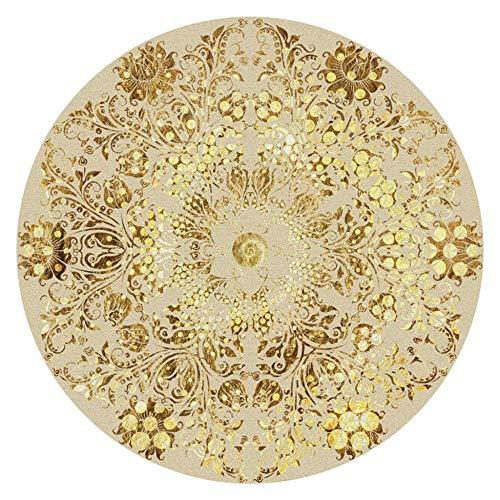 Alfombra de estilo nórdico de estilo étnico, alfombra redonda, para salón, comedor,...