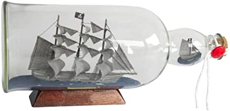 Flying Dutchman Model Ship in a Glass Bottle 11 Inch - Boat in A Bottle - Ship Model - Nautical Theme Decoration