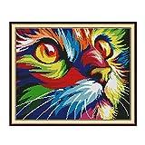 Kreuzstich-Stickerei-Set für Erwachsene Kinder, WOWDECOR Katzen, Weihnachten, Tiere, Hunde, lustig,...