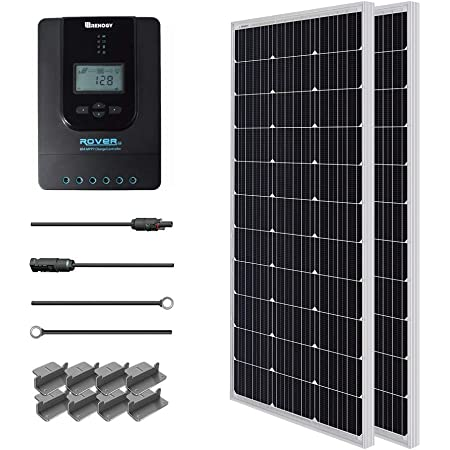 9in MC4 Adaptor Kit Renogy 200 Watts 12 Volts Solar Bundle Kit w// 2 pcs of 100w Solar Panel 30A Charge Controller A pair of Branch Connectors