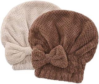 2 Jie Li Ya Dry Hair Cap Female Wipe Hair Quick-Drying Absorbent Towel Hooded Shower Cap Cute Long Hair Dry Hair Towel (Color : F)