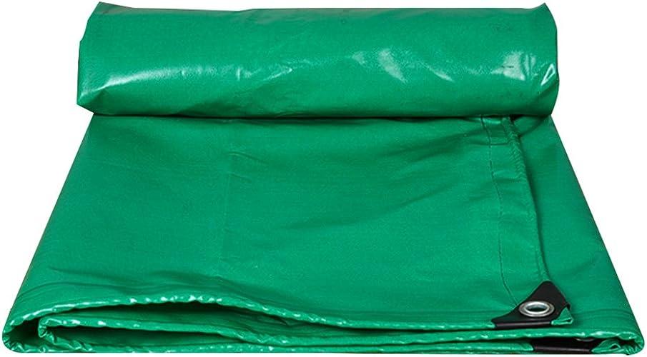 GLJ Oxford Pluie Tissu Couteau Grattage Camion Bache Toile Imperméable à l'eau De Prougeection Solaire PVC Bache Extérieure Ombre bache (Couleur   vert, Taille   5x7m)